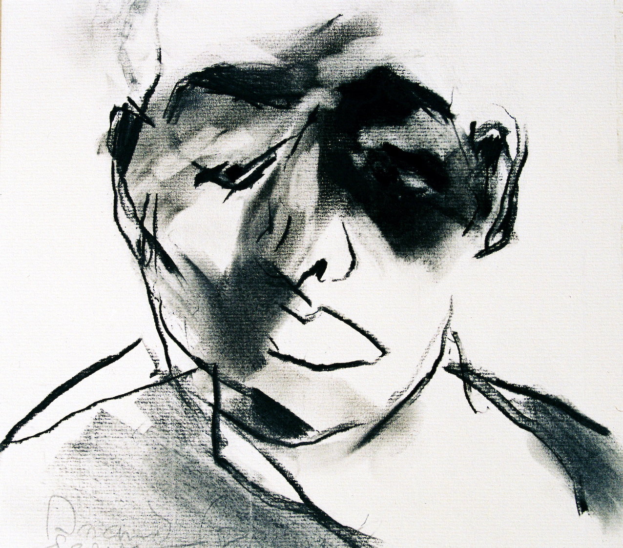 Arnaud-Franc-LE-CHATIMENT-1996-fusain-27x27cm