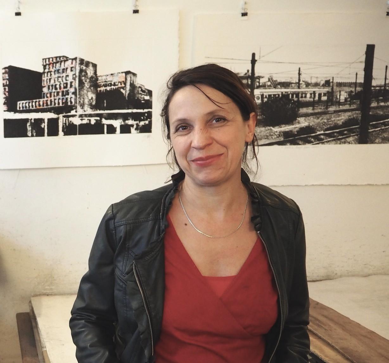 Portrait de Caroline Bouyer à l'atelier