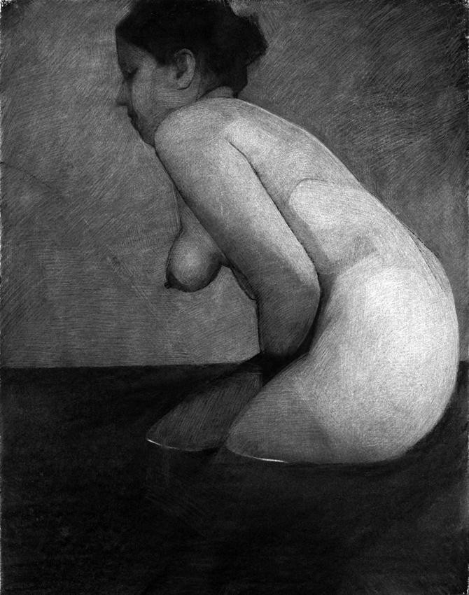 Emmanuelle Perat autoportrait au bain 2015